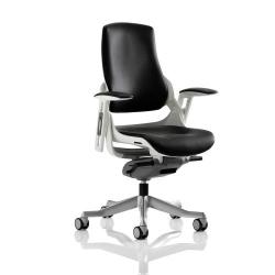 Cheap Stationery Supply of Adroit Zure Executive Chair With Arms Leather Black EX000110 Office Statationery