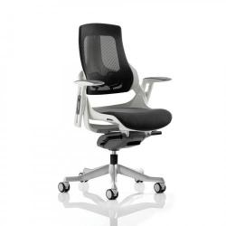 Cheap Stationery Supply of Adroit Zure Executive Chair With Arms Mesh Charcoal EX000111 Office Statationery