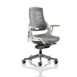 Cheap Stationery Supply of Adroit Zure Executive Chair With Arms Elastomer Gel Grey EX000112 Office Statationery