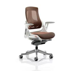Cheap Stationery Supply of Adroit Zure Executive Chair With Arms Mesh Mandarin EX000113 Office Statationery