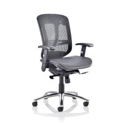 Cheap Stationery Supply of Adroit Mirage II Executive Chair With Arms Without Headrest Mesh Black EX000162 Office Statationery