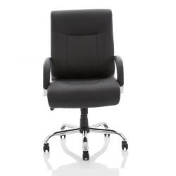 Cheap Stationery Supply of Adroit Drayton Heavy Duty Chair Black Leather 560x540x510-610mm EX000191 Office Statationery