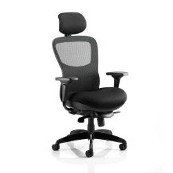 Cheap Stationery Supply of Adroit Stealth Shadow Ergo Posture Chair With Arms With Headrest Airmesh Seat Mesh Back Black KC0158 Office Statationery