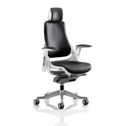 Cheap Stationery Supply of Adroit Zure Executive Chair With Arms With Headrest Leather Black KC0166 Office Statationery