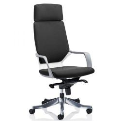 Cheap Stationery Supply of Adroit Xenon White Shell Head Rest Chair Black 520x470x450-535mm KC0226 Office Statationery
