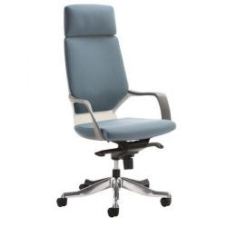 Cheap Stationery Supply of Adroit Xenon White Shell Head Rest Chair Blue 520x470x450-535mm KC0227 Office Statationery