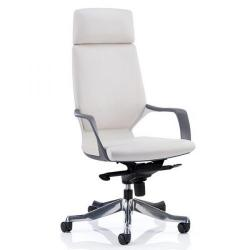 Cheap Stationery Supply of Adroit Xenon White Shell Head Rest White Leather 520x470x450-535mm KC0229 Office Statationery