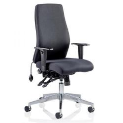 Cheap Stationery Supply of Adroit Onyx Posture Chair Black 450x470-540x590-640mm OP000095 Office Statationery