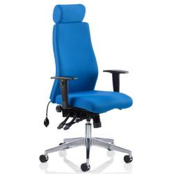 Cheap Stationery Supply of Adroit Onyx Posture Chair Headrest Blue 450x470-540x590-640mm OP000096 Office Statationery