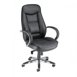 Cheap Stationery Supply of Adroit Languedoc Premium Leather Exec Chair 550x530x480-560mm 10488-01 Office Statationery