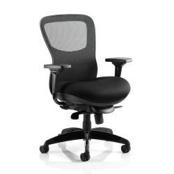 Cheap Stationery Supply of Adroit Stealth Shadow Ergo Posture Chair With Arms Mesh Back Airmesh Seat Black PO000019 Office Statationery