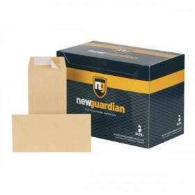 New Guardian Envelopes Heavyweight Pocket Peel & Seal 130gsm DL 220x110mm Manilla Ref E26503 Pack of 500