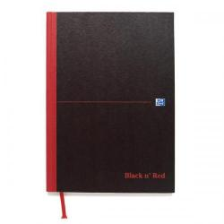 Cheap Stationery Supply of Black n Red Notebook Casebound 90gsm Ruled 192pp A5 100080459 Pack of 5 Office Statationery