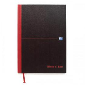 Black n Red Notebook Casebound 90gsm Ruled 192pp A5 Ref 100080459 Pack of 5