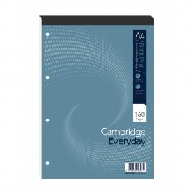 Cambridge Refill Pad Hbd 70gsm Narrow Ruled Margin Punched 4 Holes 160pp A4 Blue Ref 100080168 Pack of 5
