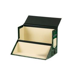 Cheap Stationery Supply of Rexel Classic Transfer Cases Wedge Front Green/Black - Pack of 2 Transfer Cases for Desk or Shelf Top Storage and Filing 49215EAST Office Statationery