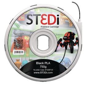 ST3Di Black PLA 3D Printing Filament 750g ST-6007-00