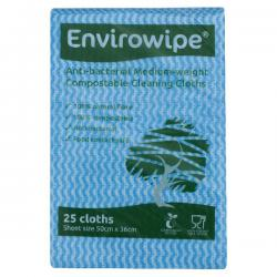 Cheap Stationery Supply of Envirowipe Antibacterial Cleaning Cloths 500x360mm Blue (Pack of 25) EWF150 Office Statationery