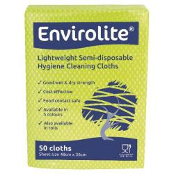 Cheap Stationery Supply of Envirolite Lightweight 480x360mm Yellow All Purpose Cloths (Pack of 50) ELF500 Office Statationery