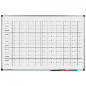 Legamaster Premium Perpetual Year Planner (Dimensions: W900 x H600mm) 4110-00