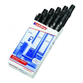 Edding 2000C Permanent Marker Bullet Tip Black (Pack of 10) 2000C-001