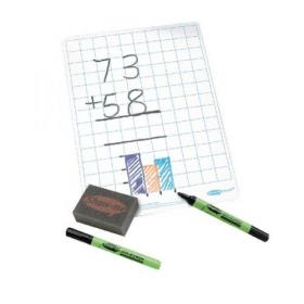 Show-Me Whiteboard A4 Gridded (Pack of 35) C/SQB