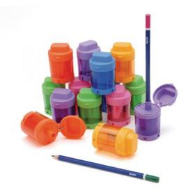 Swash Canister Pencil Sharpener Assorted (Pack of 12) SDPS112PP