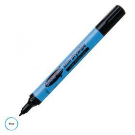 Show-me Drywipe Marker Fine Tip Black (Pack of 100) FPCP100