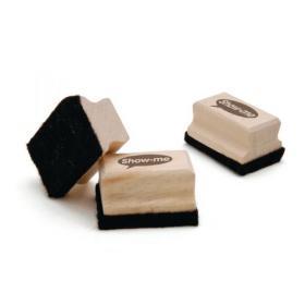 Show-me Mini Wooden Handled Felt Whiteboard Eraser (Pack of 30) WME30