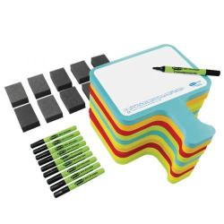 Cheap Stationery Supply of Show-me Drywipe Foambats Plain Assorted (Pack of 30) CEFBAP Office Statationery