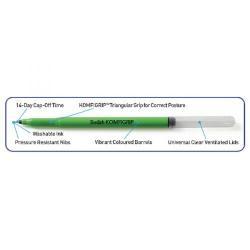 Cheap Stationery Supply of Swash KOMFIGRIP Handwriting Pen Black (Pack of 12) THW12BK Office Statationery