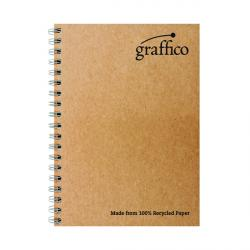Cheap Stationery Supply of Graffico Recycled Wirebound Notebook 160Pg A4 (Pack of 10) EN07340 Office Statationery