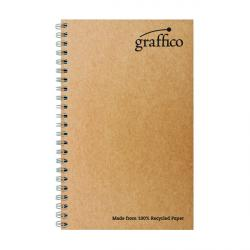 Cheap Stationery Supply of Graffico Recycled Wirebound Notebook 160Pg A5 (Pack of 10) EN07341 Office Statationery