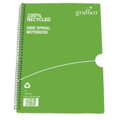 Cheap Stationery Supply of Graffico Recycled Spiral Bound Notebook 100 Pages A5 (Pack of 10) 5000335 Office Statationery