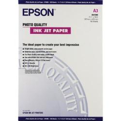 Cheap Stationery Supply of Epson White Photo Inkjet A3 Paper 104gsm (Pack of 100) C13S041068 Office Statationery