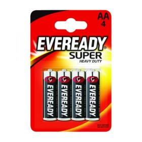 Eveready Super Heavy Duty AA Batteries (Pack of 4) R6B4UP