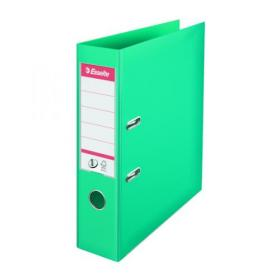 Esselte 75mm Lever Arch File Polypropylene A4 Turquoise (Pack of 10) 811550