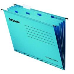 Cheap Stationery Supply of Esselte Classic Blue Foolscap Suspension File Divider (Pack of 10) 93135 Office Statationery