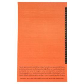 Esselte Orgarex Lateral Insert White With Orange Tip (Pack of 250) 326900