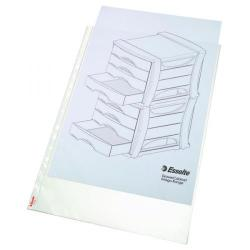 Cheap Stationery Supply of Esselte Pocket Portrait Top Opening Embossed A3 Clear (Pack of 10) 47181 Office Statationery