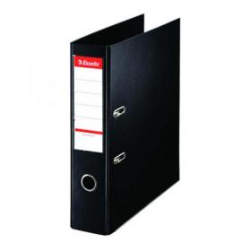 Esselte 75mm Lever Arch File Polypropylene A4 Black (Pack of 10) 48067