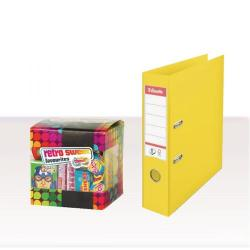 Cheap Stationery Supply of Esselte A4 PVC Lever Arch File 75mm Yellow (Pack of 10) with FOC Sweets ES810767 Office Statationery