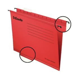 Esselte Classic A4 Red Suspension File (Pack of 25) 90316