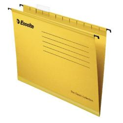 Cheap Stationery Supply of Esselte Classic Foolscap Yellow Suspension File (Pack of 25) 90335 Office Statationery