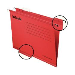 Cheap Stationery Supply of Esselte Classic Foolscap Red Suspension File (Pack of 25) 90336 Office Statationery