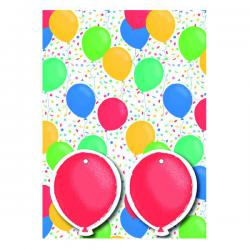 Cheap Stationery Supply of Balloons Gift Wrap and Tags Pack 12 Office Statationery