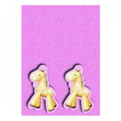 Cheap Stationery Supply of Pink Baby Giraffe Gift Wrap and Tags (Pack of 12) 27231-2S2T Office Statationery