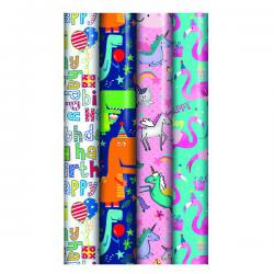 Cheap Stationery Supply of Assorted Kids Gift Wrap (Pack of 39) 27174-GW Office Statationery