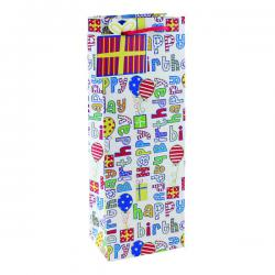 Cheap Stationery Supply of Happy Birthday Bottle Bag (Pack of 6) 26955-4 Office Statationery