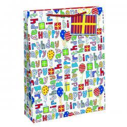Cheap Stationery Supply of Happy Birthday Gift Bag Medium (Pack of 6) 26955-3 Office Statationery